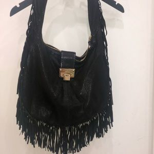 Jimmy Choo Black Fringe Bag